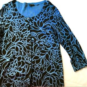Talbots Black and Blue Sweater